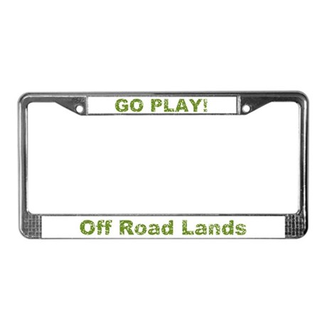 Off Road Lands Logo License Plate Frame