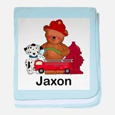 Jaxon's Fire Bear baby blanket