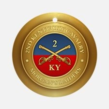 2nd Kentucky Cavalry Round Ornament