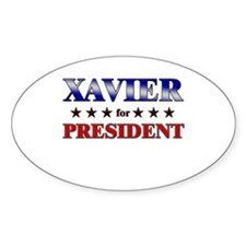 XAVIER for president Oval Decal