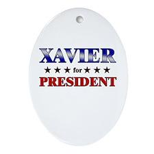 XAVIER for president Oval Ornament