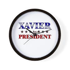 XAVIER for president Wall Clock