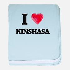 I Heart KINSHASA baby blanket