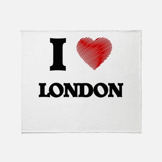 I Heart LONDON Throw Blanket