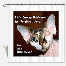 LITTLE GEORGE HAIRLESSON for PRESIDENT 2016 Shower