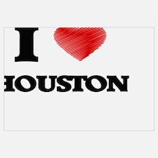 Houston map Wall Art