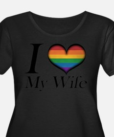 I Heart My Wife Plus Size T-Shirt