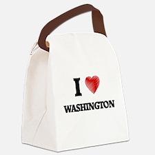 I Heart WASHINGTON Canvas Lunch Bag