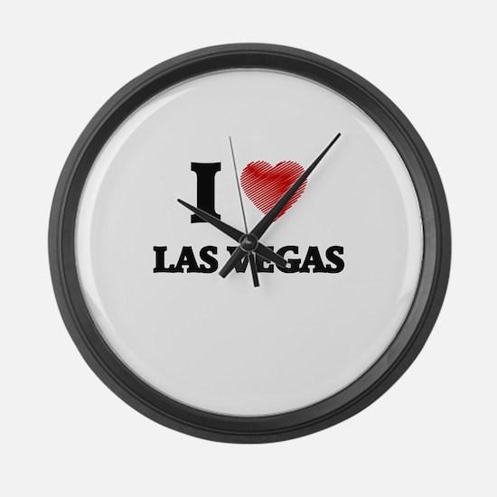 I Heart LAS VEGAS Large Wall Clock