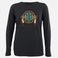 Cool Native american indian Plus Size Long Sleeve Tee
