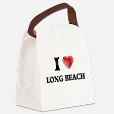 I Heart LONG BEACH Canvas Lunch Bag