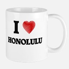 I Heart HONOLULU Mugs