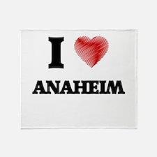 I Heart ANAHEIM Throw Blanket