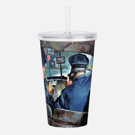 Vintage Police Acrylic Double-wall Tumbler