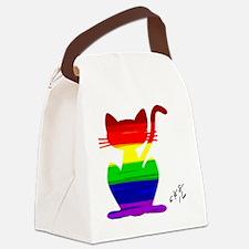 Cute Gay pride Canvas Lunch Bag