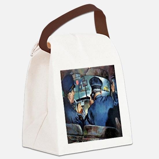 Vintage Police Canvas Lunch Bag