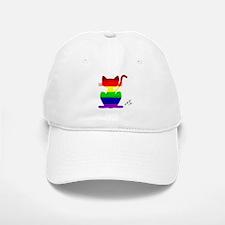 Gay rainbow cat art Baseball Baseball Cap