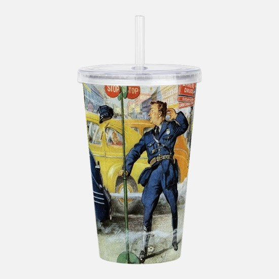 Vintage Traffic Cop Acrylic Double-wall Tumbler