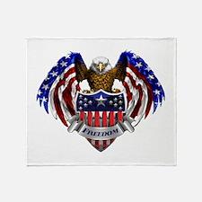 Funny American eagle Throw Blanket