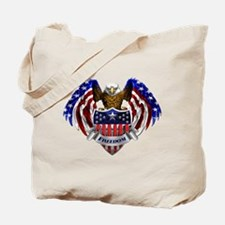 Funny Bald eagle Tote Bag