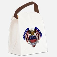 Unique God bless america Canvas Lunch Bag