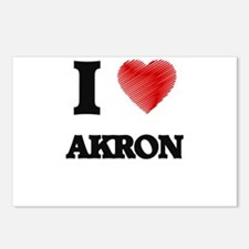 I Heart AKRON Postcards (Package of 8)