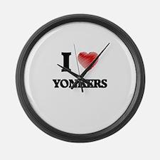 I Heart YONKERS Large Wall Clock