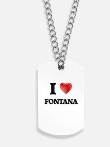 I Heart FONTANA Dog Tags