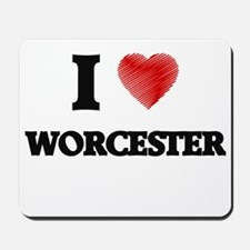 I Heart WORCESTER Mousepad
