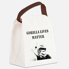 Unique Gorilla funny Canvas Lunch Bag