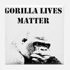 Gorilla Lives Matter Tile Coaster