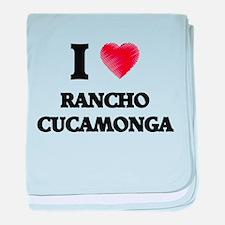 I Heart RANCHO CUCAMONGA baby blanket
