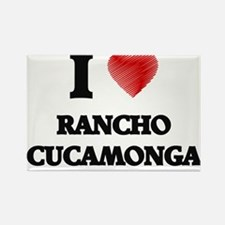 I Heart RANCHO CUCAMONGA Magnets