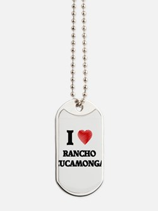 I Heart RANCHO CUCAMONGA Dog Tags