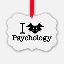 I Heart (Rorschach Inkblot) Psychology Ornament