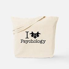 I Heart (Rorschach Inkblot) Psychology Tote Bag