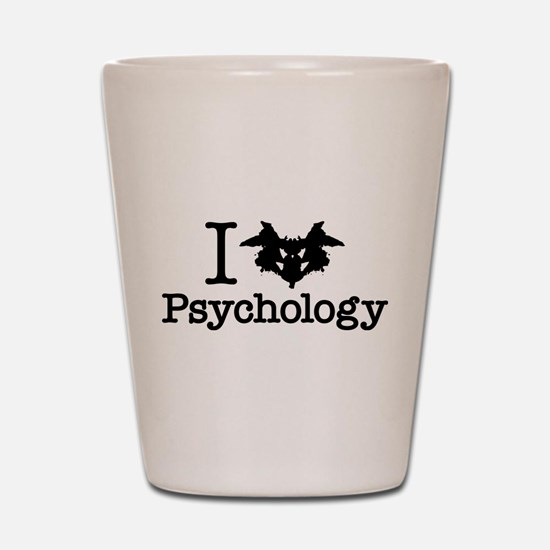I Heart (Rorschach Inkblot) Psychology Shot Glass