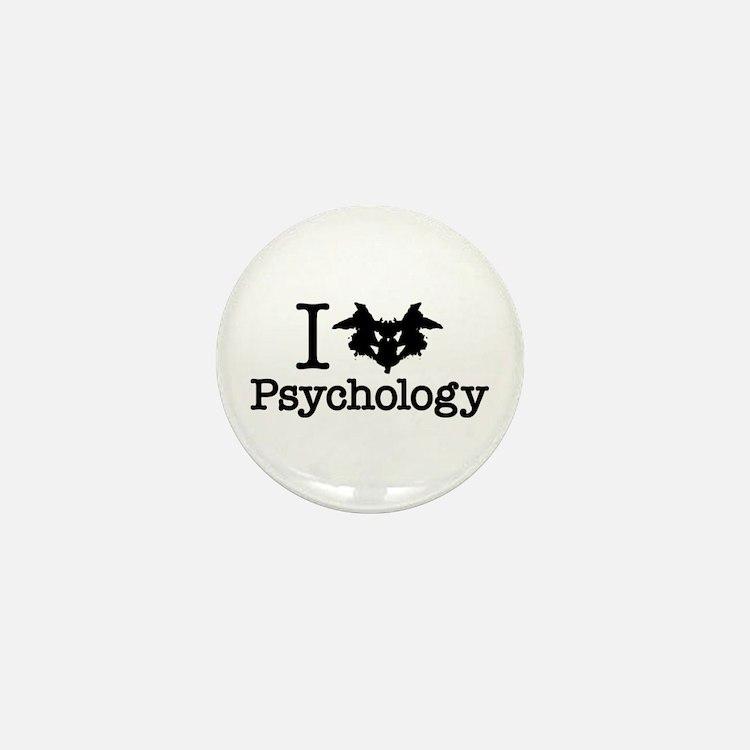 I Heart (Rorschach Inkblot) Psychology Mini Button