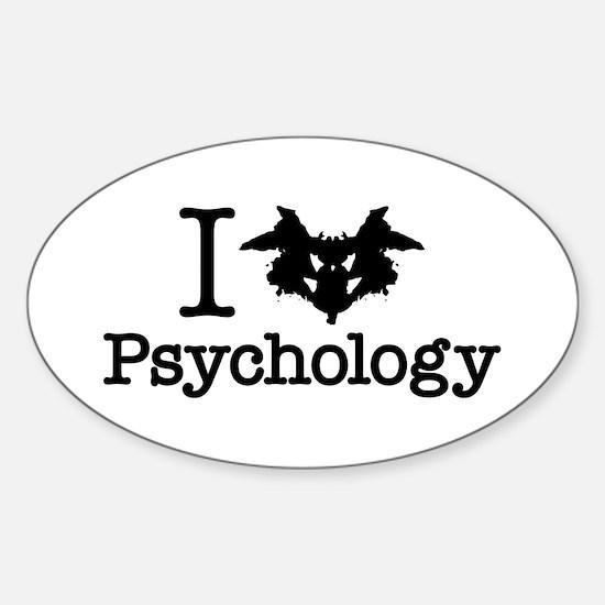 I Heart (Rorschach Inkblot) Psychology Decal