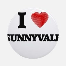 I Heart SUNNYVALE Round Ornament