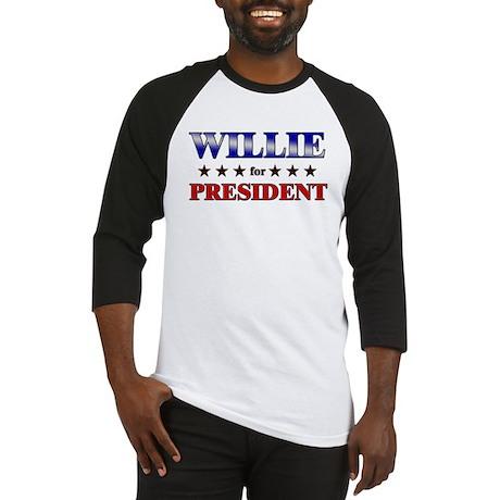 WILLIE for president Baseball Jersey
