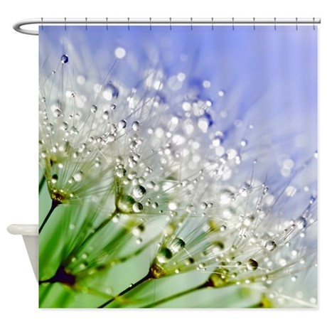 sparkling dandelion shower curtain by admin cp129071891