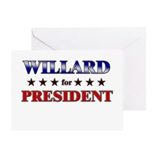 WILLARD for president Greeting Card
