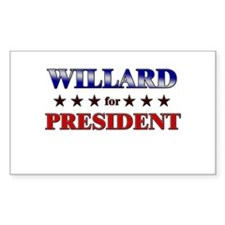 WILLARD for president Rectangle Decal