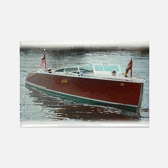 Antique Wooden Boat Rectangle Magnet