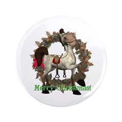 "Tumbleweed Horse 3.5"" Button"