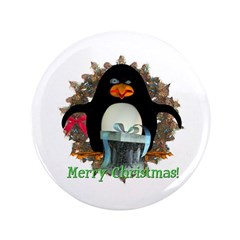 "Pongo Penguin 3.5"" Button"