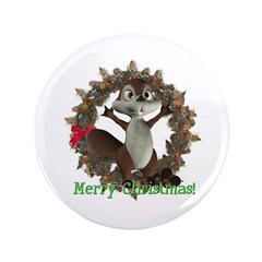 "Nickie Squirrel 3.5"" Button"