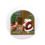 """Praying Santa 3.5"""" Button"""