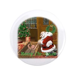 "Praying Santa 3.5"" Button"